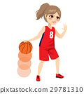 Female Basketball Player Action 29781310