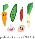 Cute Vegetable Characters 29781316