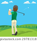 Golfer Hitting Ball 29781318