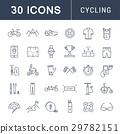 cycling, icon, set 29782151