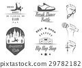 Vector Set of Badges, Logos and Sign Break Dance 29782182