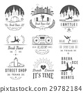 Vector Set of Badges, Logos and Sign Break Dance 29782184