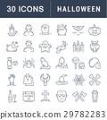 Set Vector Flat Line Icons Halloween 29782283