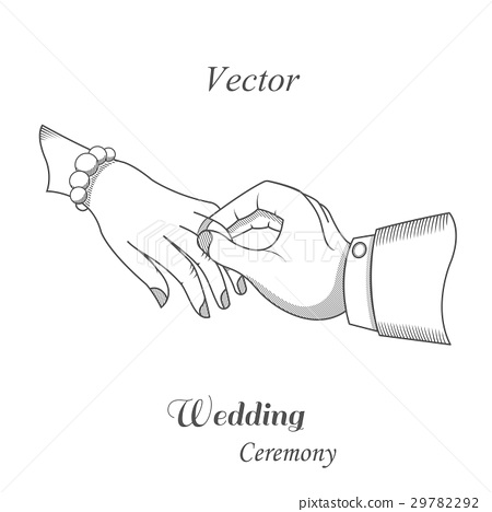 Illustration of wedding ceremony 29782292
