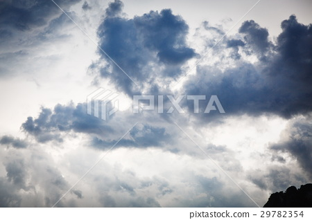 Sky with gray clouds 29782354