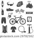 Vector set of icons about cycling 29782562
