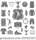 Vector set of icons basketball 29782563