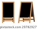 Set of Menu Black Boards.Vector illustration. 29782927