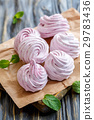 Marshmallows from blackcurrant and apple puree. 29783436