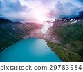 Svartisen Glacier in Norway Aerial view. 29783584