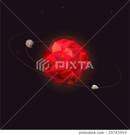 Mars planet of the solar system. Mars with two 29783954