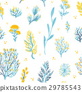 Vector hand drawn wild plants seamless pattern. 29785543