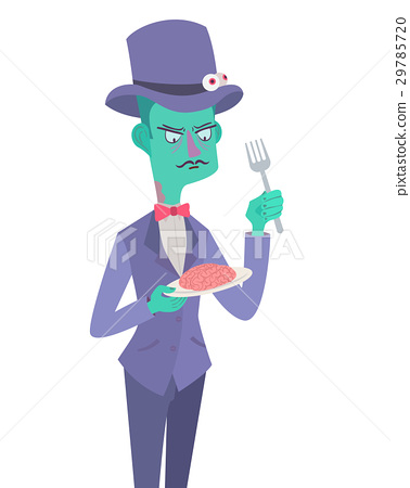 Monster zombie gentlemen. Vector Illustration 29785720