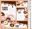 Vector templates set for donut desserts 29787978