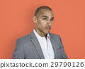 African Descent Business Man Thinking Concept 29790126