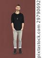 Caucasian Man Peaceful Standing 29790692