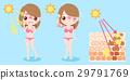woman with sunburn problem 29791769