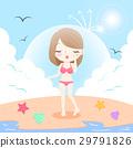 海灘 比基尼 女性 29791826
