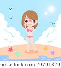 海灘 比基尼 女性 29791829