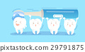 tooth with electric toothbrush 29791875