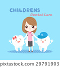 woman dentist with tooth 29791903