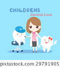 woman dentist with tooth 29791905