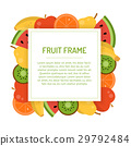 Square juicy fruit frame 29792484