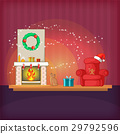 christmas, room, vector 29792596