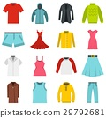Different clothes set flat icons 29792681