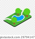 Small pond in the park isometric icon 29794147