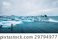 Beautiful view of icebergs glacier lagoon  29794977