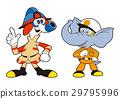 大象救援人员和网络消防员 29795996