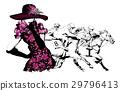 Woman in a horse racecourse 29796413