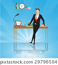Businessman stand near table in a office workplace 29796504