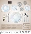 table, setting, infographics 29796522