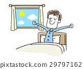 一个年轻人在早上舒服地起床 29797162