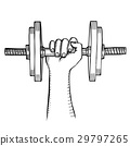 Arm muscle with dumbbell 29797265
