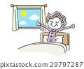 아침을 기분 좋게 일어날 수석 여성 29797287