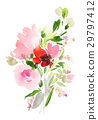 Flowers watercolor illustration 29797412
