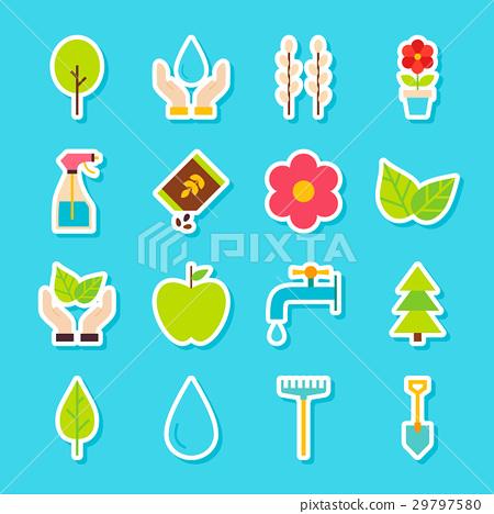 Gardening Spring Stickers 29797580