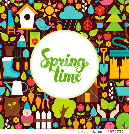 Flat Spring Time Greeting 29797594