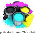 用于印刷的四分色 绘画 涂料 29797844