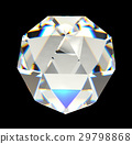 Diamond isolated on black background 3D rendering 29798868