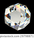 Diamond isolated on black background 3D rendering 29798871