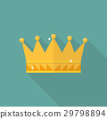 Crown icon in flat style 29798894