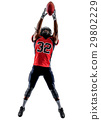 american football player man isolated 29802229