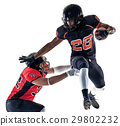 american football players men isolated 29802232