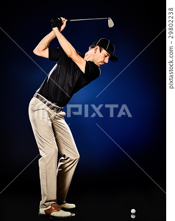 man  golfer golfing isolated 29802238