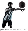 basketball player man isolated silhouette shadow 29802327