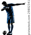 soccer player man happy celebration silhouette 29802341